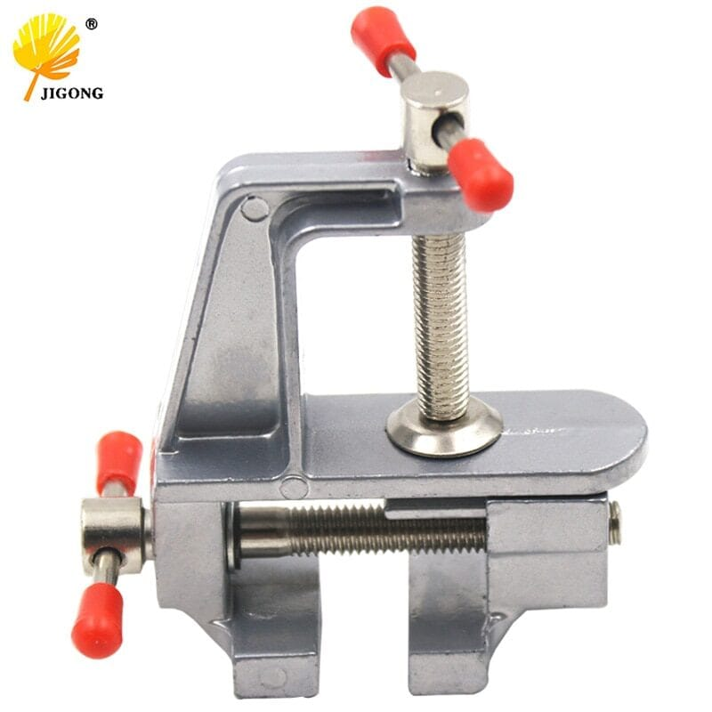 Aluminium alloy bench screw bench vise for diy jewelries craft mould fixed repair tool