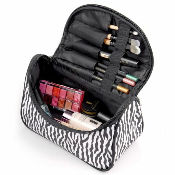 Travel Organizer Accessory Toiletry Zebra Cosmetic Make Up Holder Case Bag Pouch 1