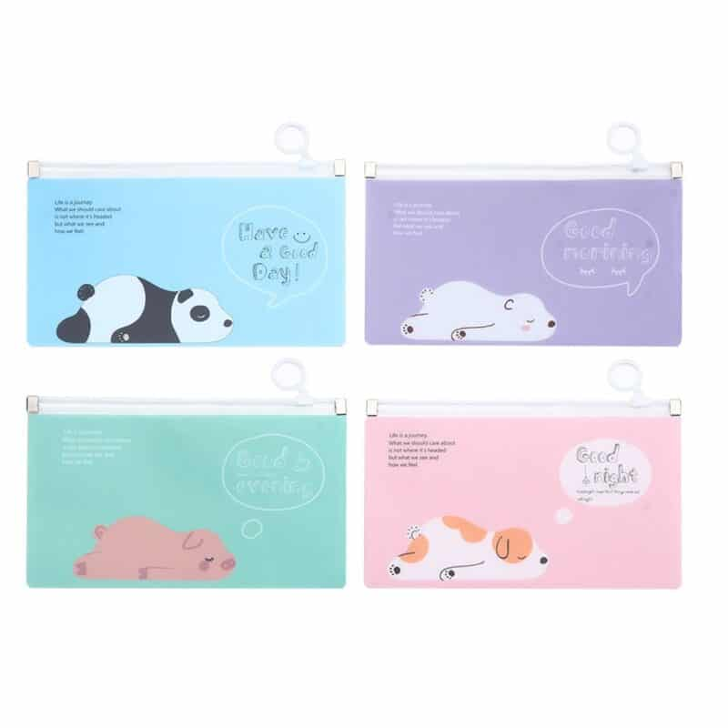 Package 4pcs of children's transparent bags for transporting and storing face mask