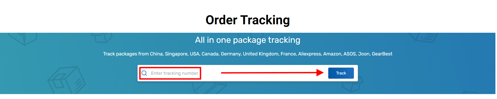 Order tracking msow