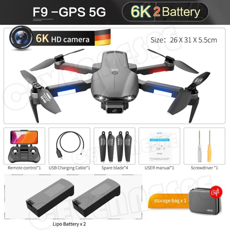6k dual hd camera professional drone aerial photography brushless motor foldable quadcopter rc distance3000m