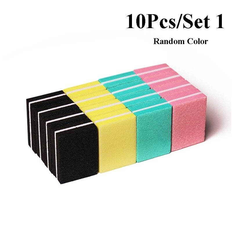 10pcs mini buffer nail file in different colors