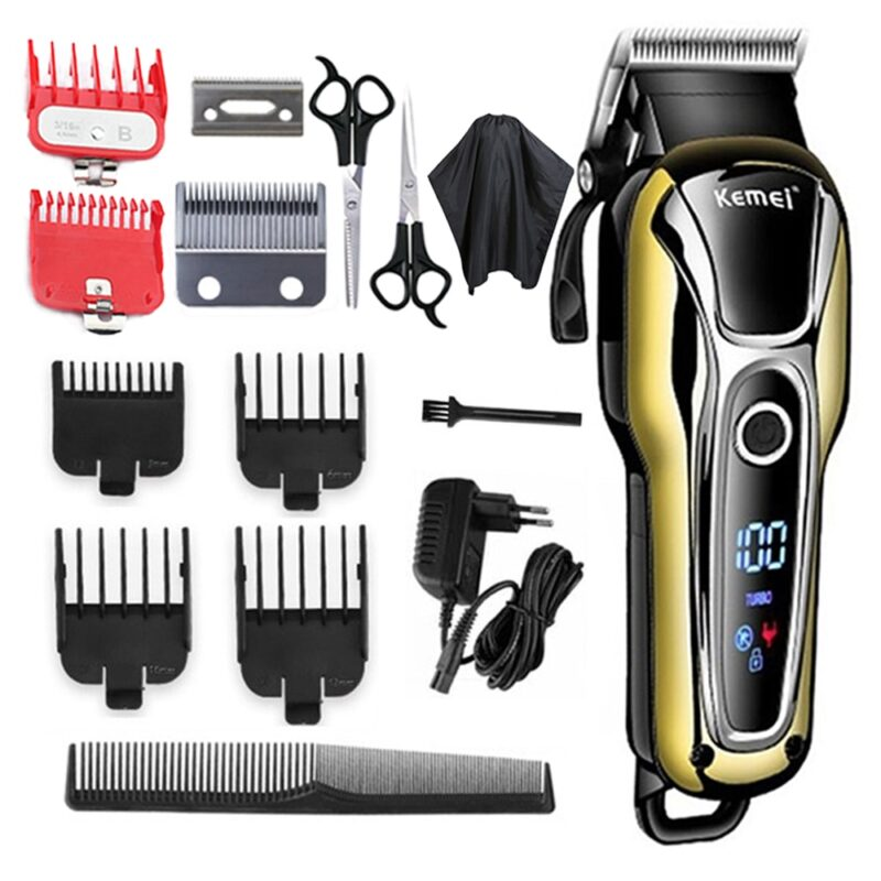 Kemei professional hair clipper with lcd screen