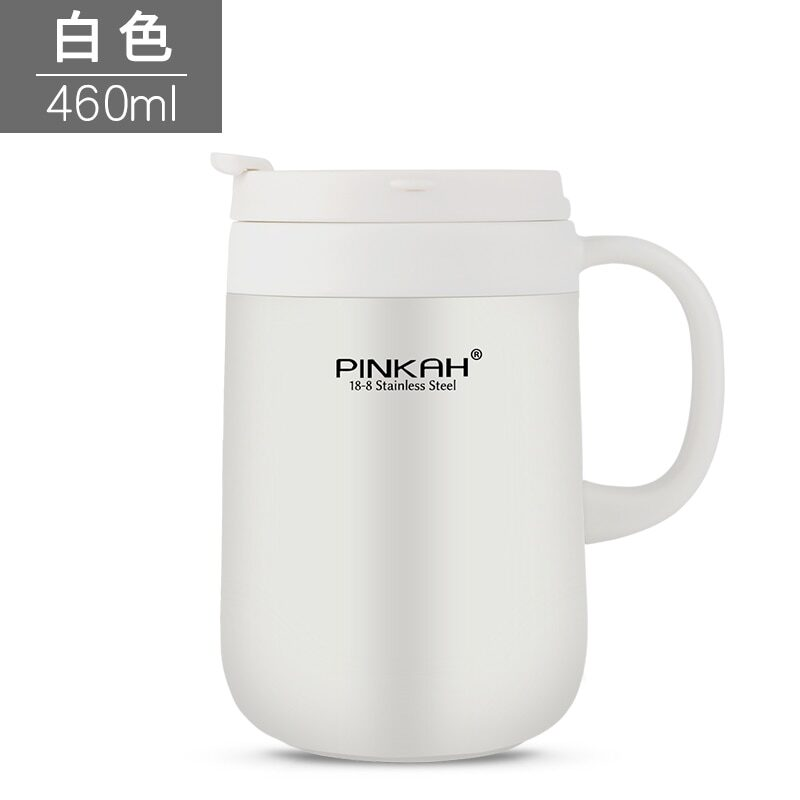Pinkah 340&460ml 304 stainless steel thermos mugs office cup with handle with lid insulated tea mug thermos cup office thermoses