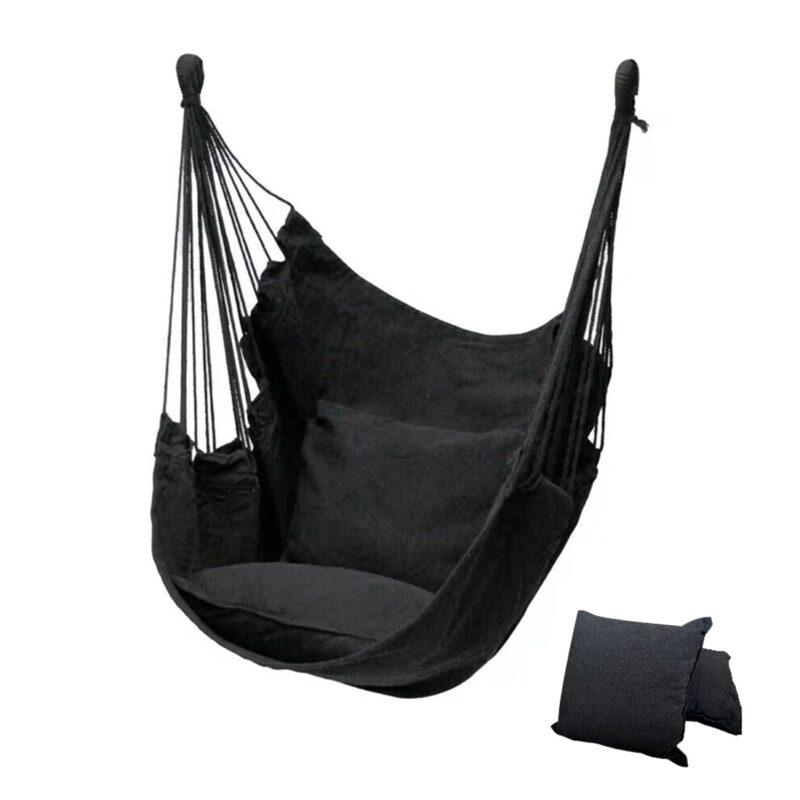 Outdoor hammock swing thicken chair hanging swing chair portable relaxation canvas swing travel camping lazy chair no pillow