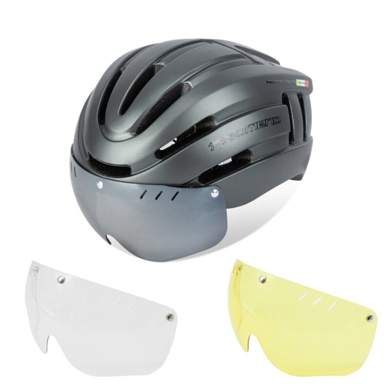 PROMEND Bicycle Helmet LED Light Rechargeable Intergrally-molded Cycling Helmet Mountain Road Bike Helmet Sport Safe Hat For Man 14