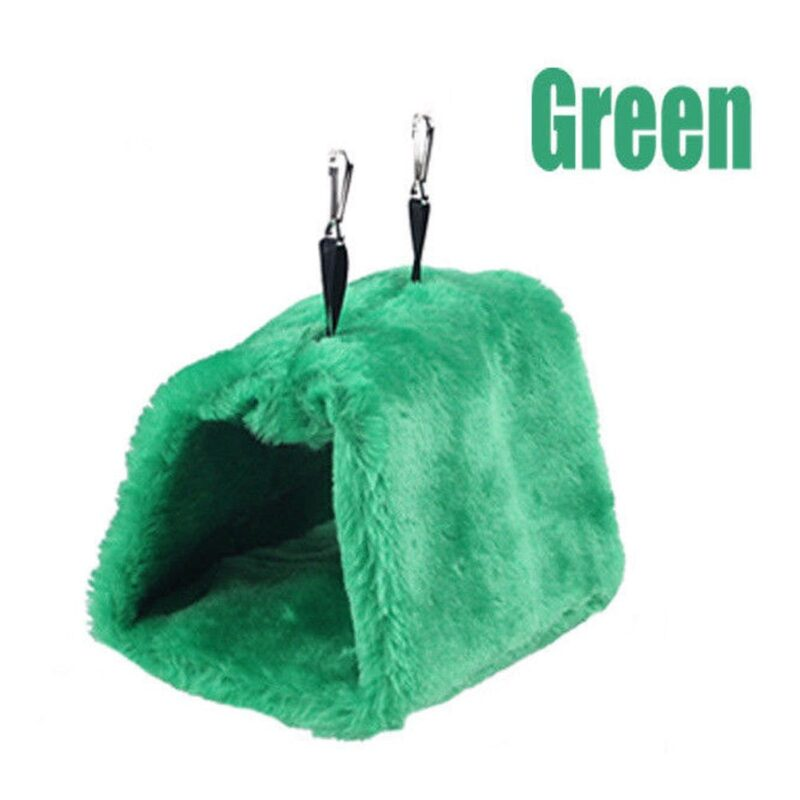 Fashion Newest Hot Sales Pet Bird Parrot Parakeet Budgie Warm Hammock Cage Hut Tent Bed Hanging Cave 13