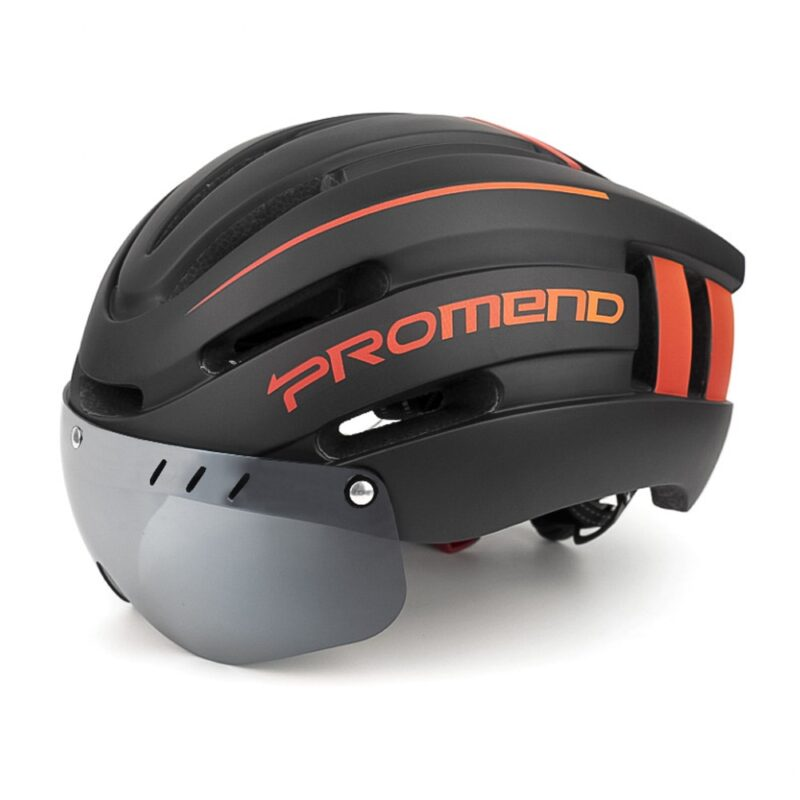 PROMEND Bicycle Helmet LED Light Rechargeable Intergrally-molded Cycling Helmet Mountain Road Bike Helmet Sport Safe Hat For Man 13