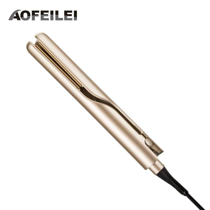 Professional electric straightening iron&curling iron hair curler 2 in 1 hair straightener flat irons ceramic styling tools