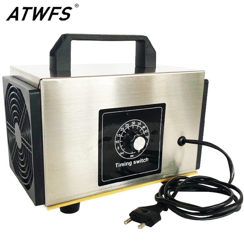 Atwfs air purifier ozone generator 220v 60g/48g/36g air cleaner home ozonator portable ozon ozonizer o3 generator with timing