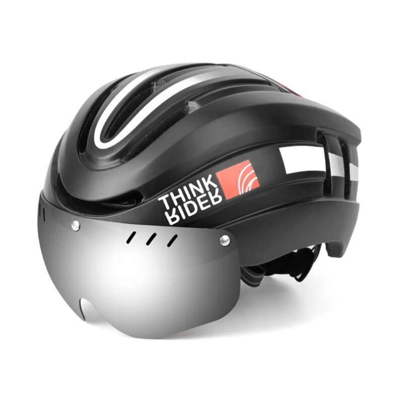 PROMEND Bicycle Helmet LED Light Rechargeable Intergrally-molded Cycling Helmet Mountain Road Bike Helmet Sport Safe Hat For Man 15