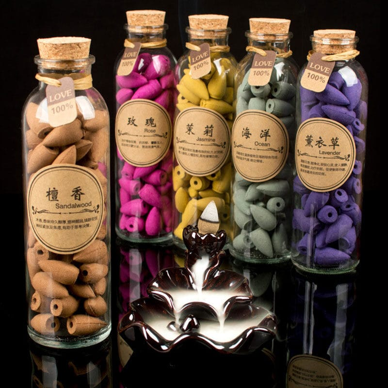 Bottle with aromatic cones 58 pcs