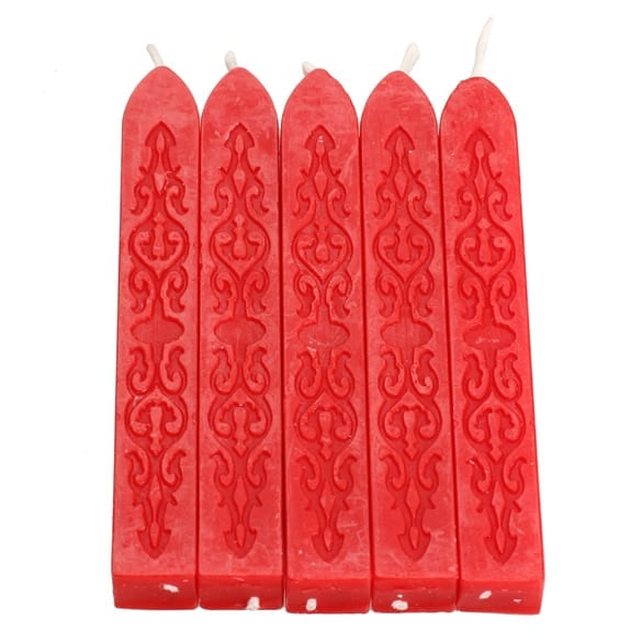 Candle for stamps in different colors 5pcs