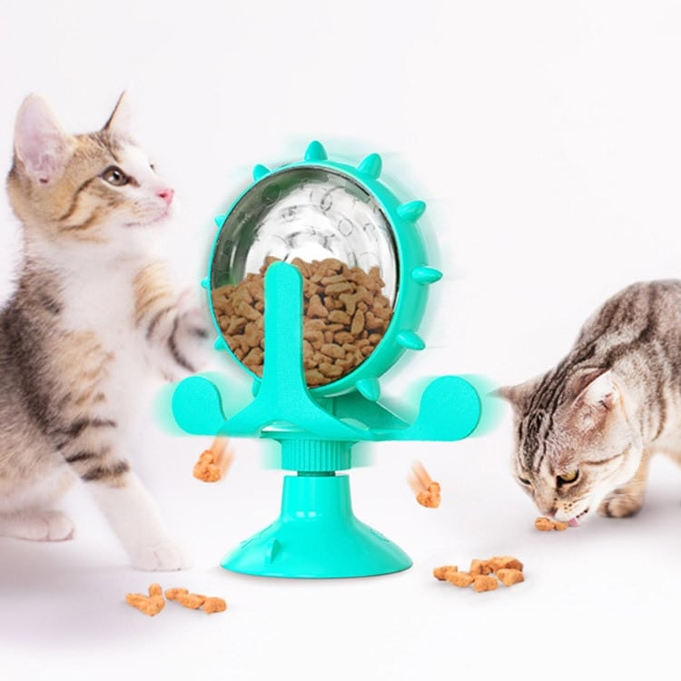 Cats Turntable Leakage Food Toy Cat Puzzle Interactive Training Pet Turntable Rotation Leakage Food Toy for Small Medium Pets 8
