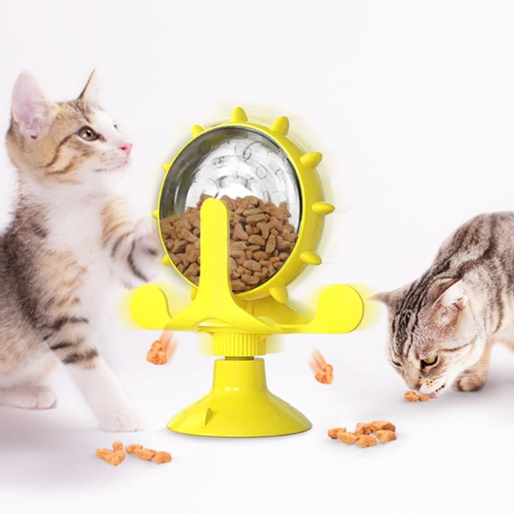 Cats Turntable Leakage Food Toy Cat Puzzle Interactive Training Pet Turntable Rotation Leakage Food Toy for Small Medium Pets 9