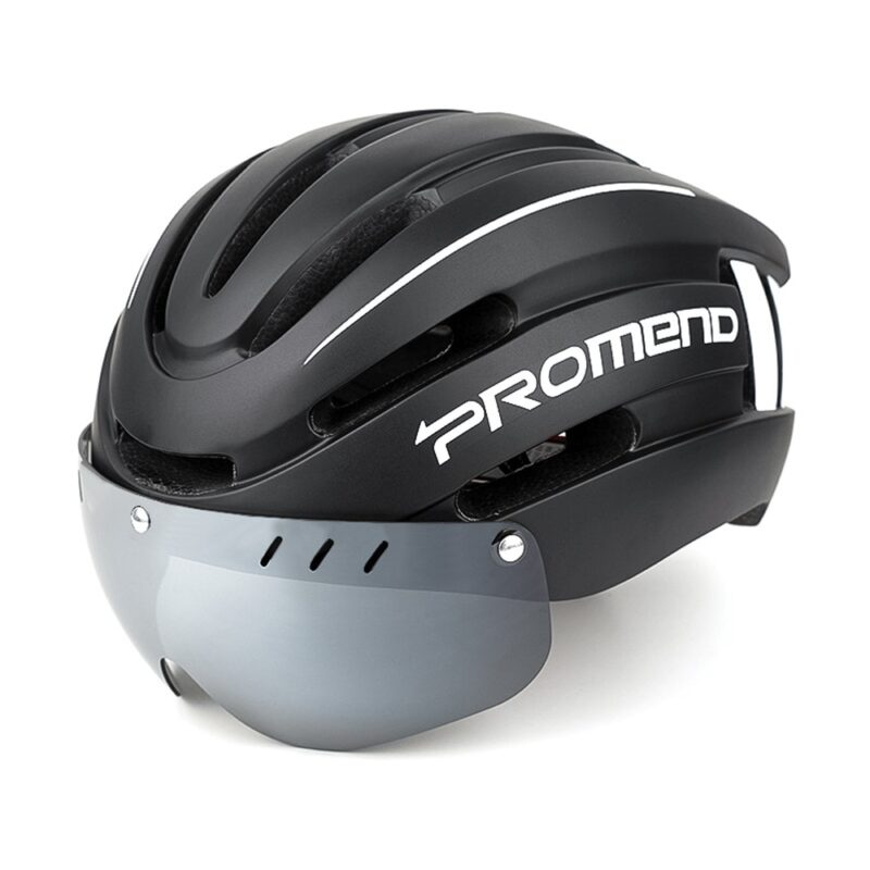 PROMEND Bicycle Helmet LED Light Rechargeable Intergrally-molded Cycling Helmet Mountain Road Bike Helmet Sport Safe Hat For Man 12