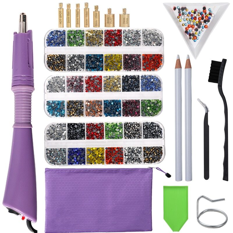 Rhinestones applicator for clothes, shoes and accessories via iron-on