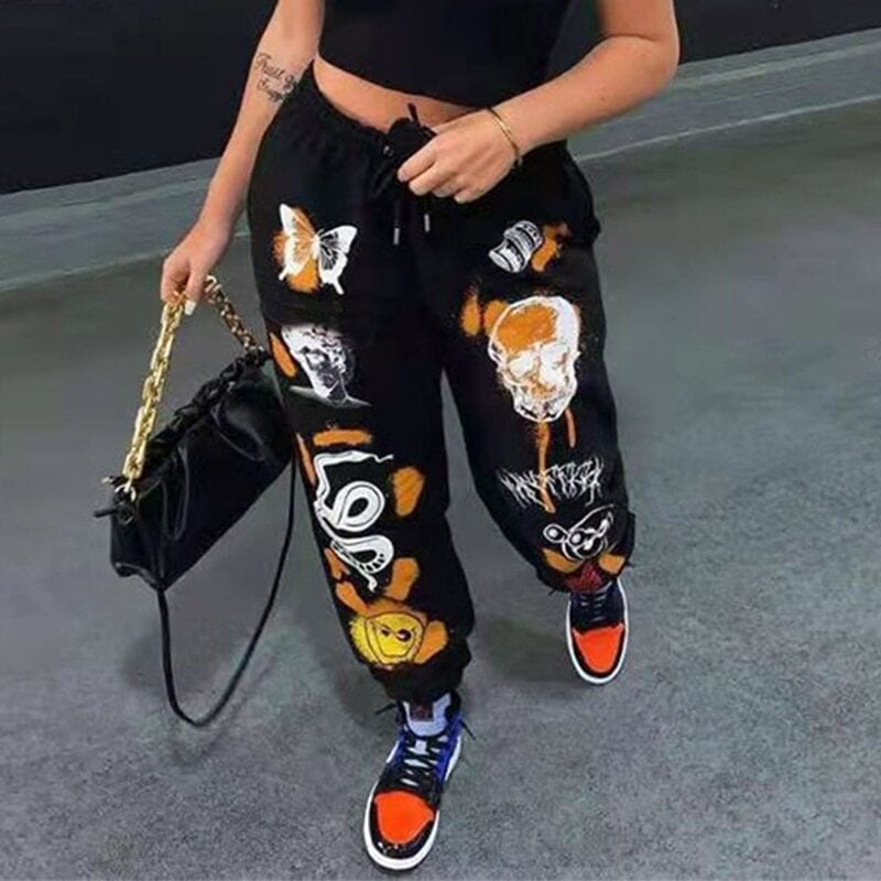 Instahot women's tracksuit in loose fit with prints