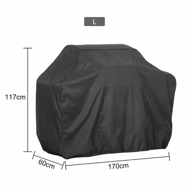 Bbq grill cover 7 sizes black outdoor waterproof barbeque cover anti-dust protector for gas charcoal electric barbecue grill