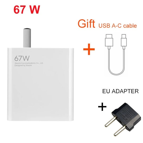 Original xiaomi mi 67w fast charger for xiaomi 11 pro & xiaomi 11 ultra 36 minutes fully charged for macbook laptop air notebook