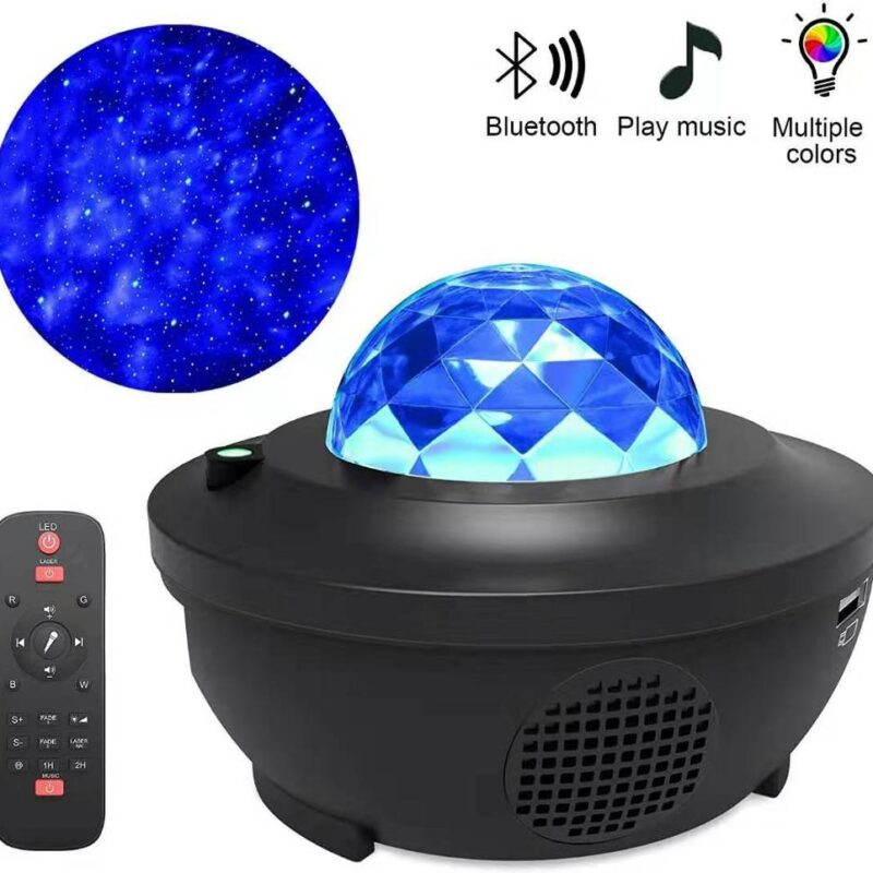 Led star galaxy projector ocean wave night light room decor rotate starry sky porjectors luminaria decoration bedroom lamp gifts
