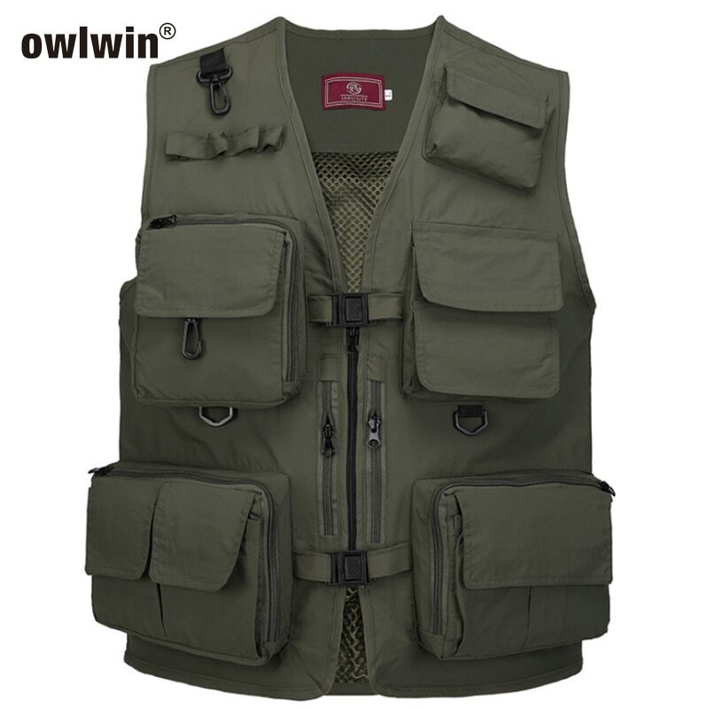 Quick-drying vest with multiple pocket