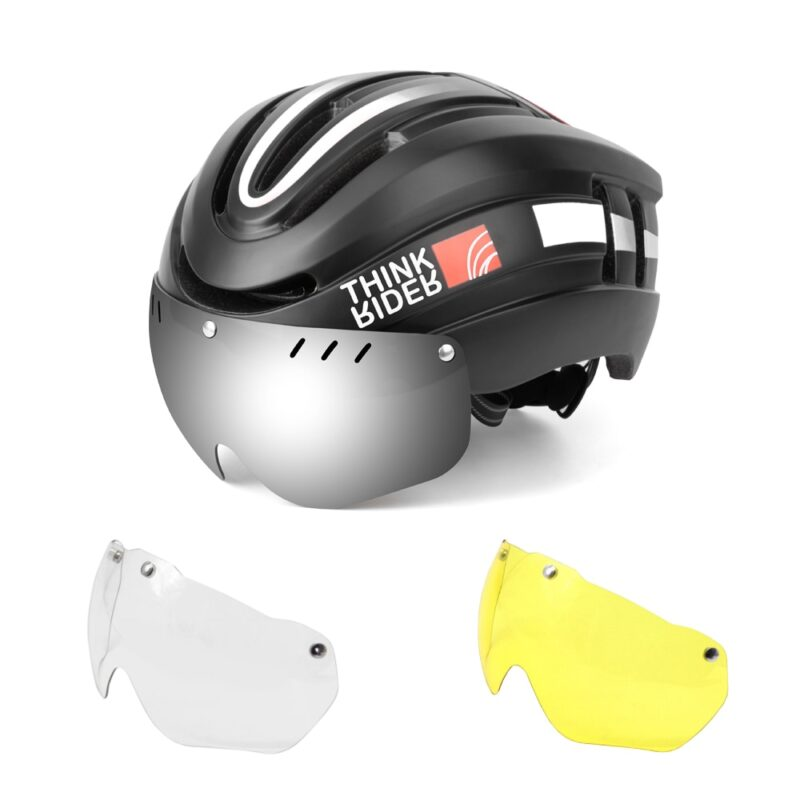 PROMEND Bicycle Helmet LED Light Rechargeable Intergrally-molded Cycling Helmet Mountain Road Bike Helmet Sport Safe Hat For Man 8