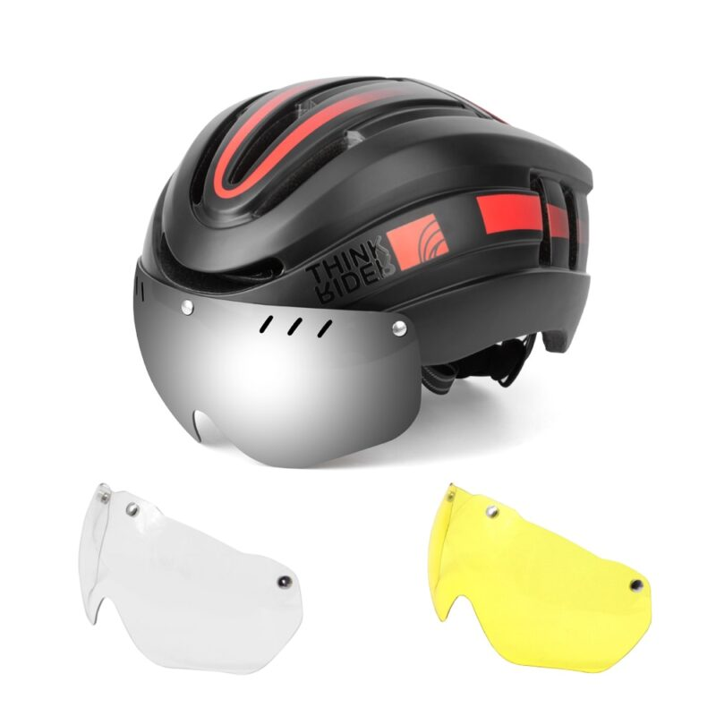 PROMEND Bicycle Helmet LED Light Rechargeable Intergrally-molded Cycling Helmet Mountain Road Bike Helmet Sport Safe Hat For Man 11