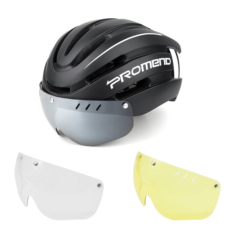 PROMEND Bicycle Helmet LED Light Rechargeable Intergrally-molded Cycling Helmet Mountain Road Bike Helmet Sport Safe Hat For Man 7