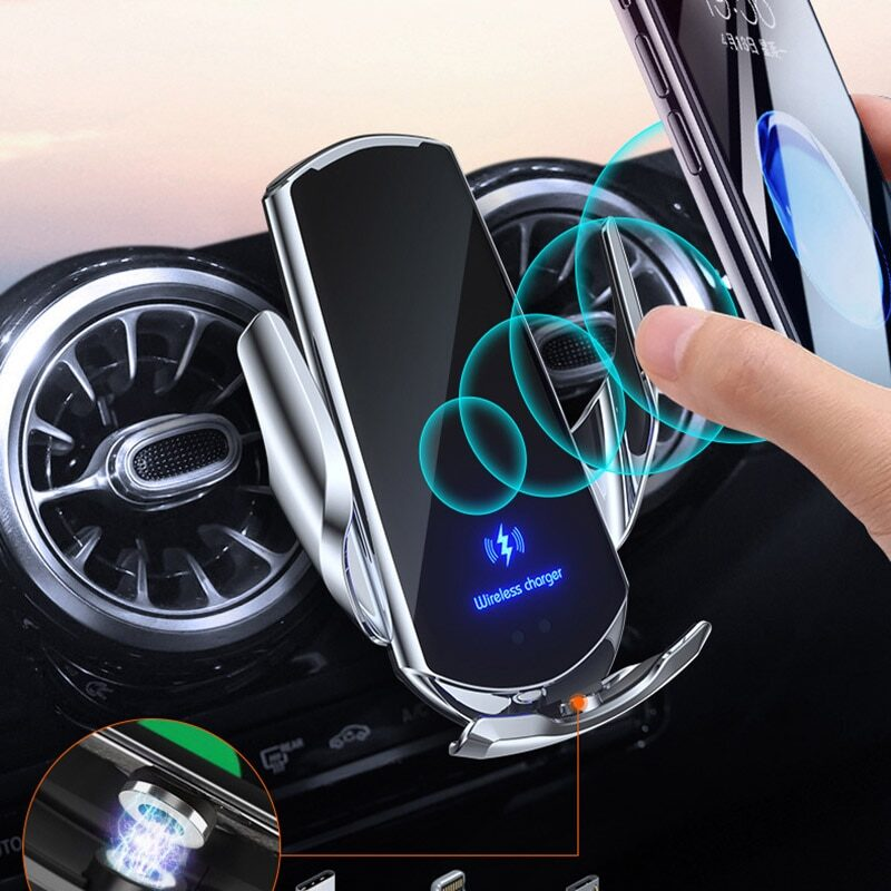 Magnetic charging car phone holder for xiaomi mi 10 lite 10t redmi note 7 pro black shark 3 qi wireless charger air vent stand