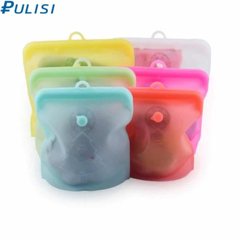 Pulisi silicone reusable food bag in different sizes