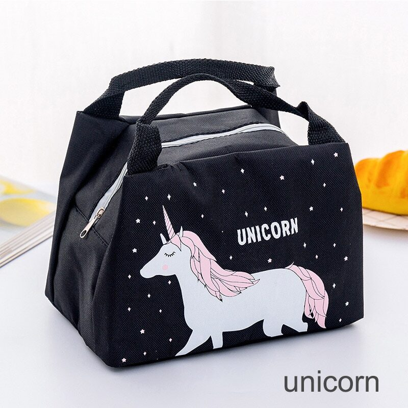 Portable lunch bag with cartoon animals designs