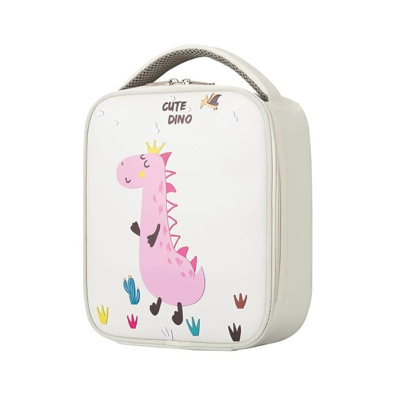 Children's lunch bag made of laminated leather with thermal lining