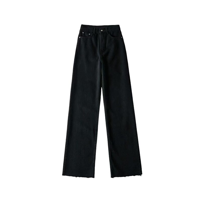 Women's in mom style high-waisted jeans