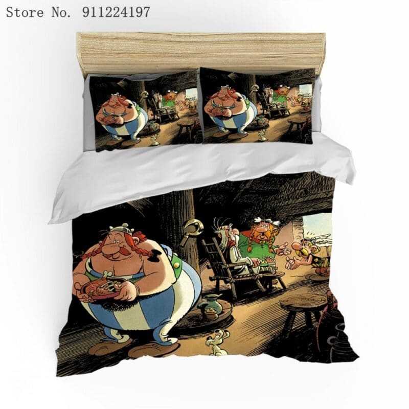 Pillowcase with 3d comic book designs asterix