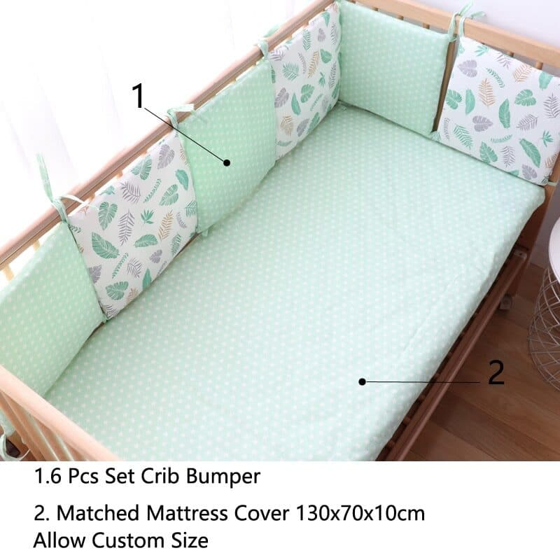 Baby bed bumper for the crib