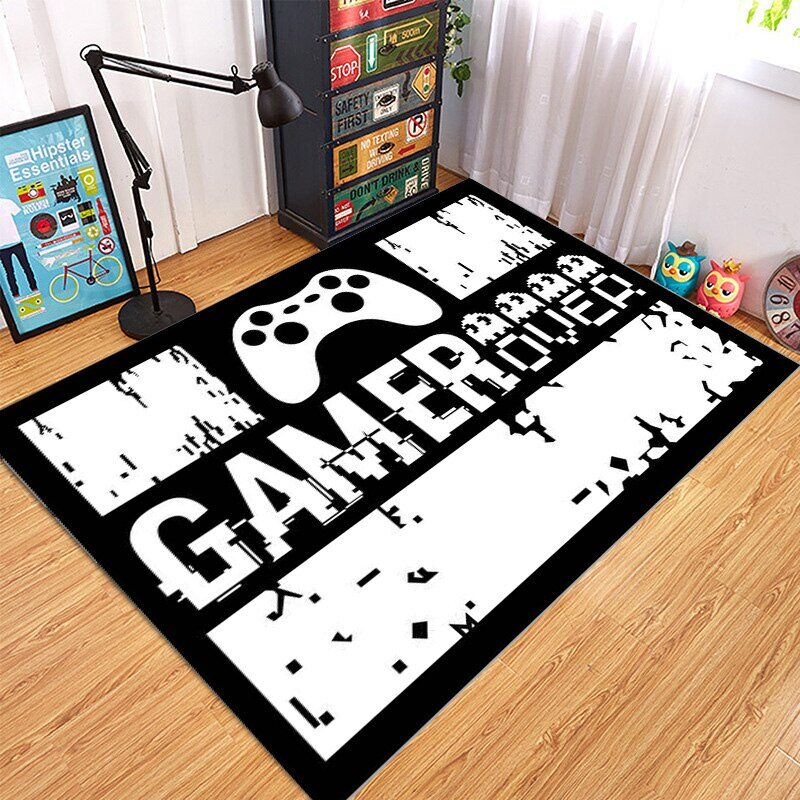 Carpet with game controller designs