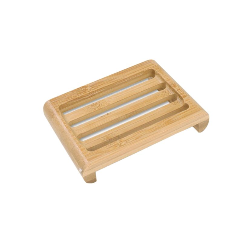 Wooden Natural Bamboo Soap Dishes Tray Holder Storage Soap Rack Plate Box Container Portable Bathroom Soap Dish Storage Box 10