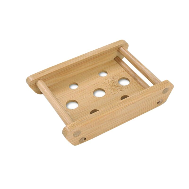 Wooden Natural Bamboo Soap Dishes Tray Holder Storage Soap Rack Plate Box Container Portable Bathroom Soap Dish Storage Box 11