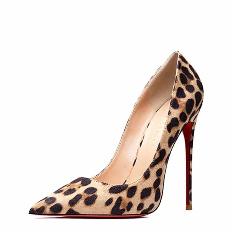 Fashion Leopard Sexy Pumps Women Spring Shoes High Heeled Stilettos Red Sole Ladies Dress Shoes Girl Gifts Heels Women's Shoes 1