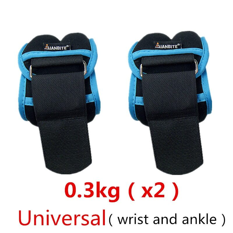 1kg/pair Adjustable Wrist Ankle Weights Iron Sand Bag Weights Straps with Neoprene Padding for for Exercise Fitness Running 7