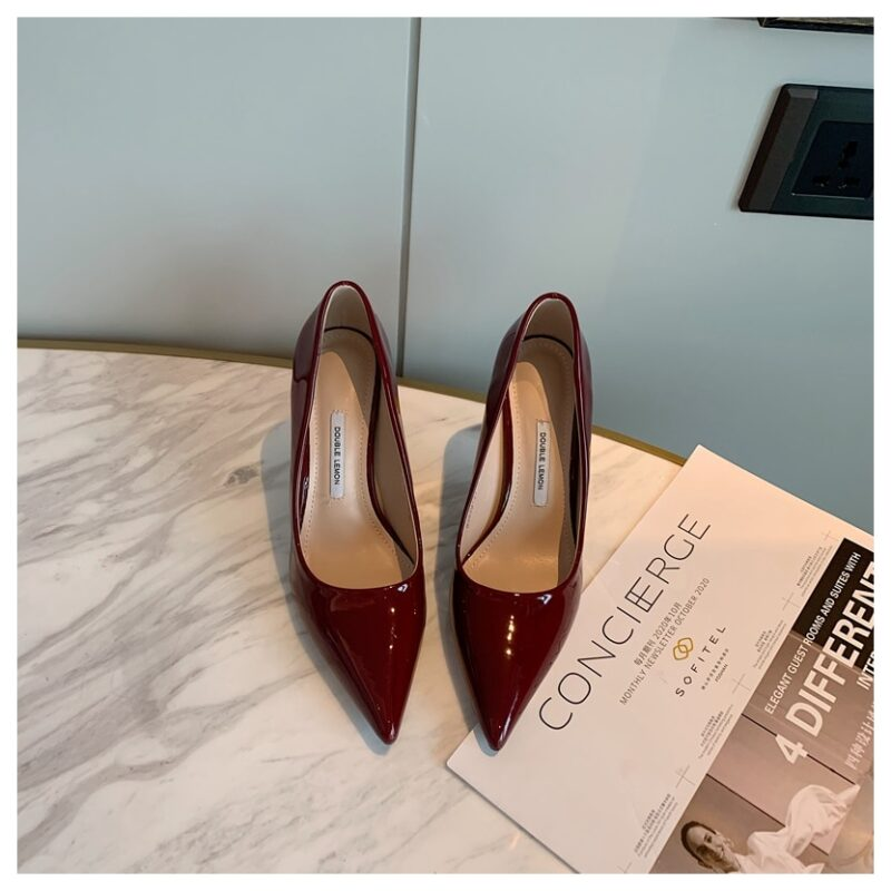Fashion Women Shoes Thin Heel 8cm Pointed Toe Pumps Women Dress Party Shoes Female Office Ladies Shoes For Wedding zapatos mujer 7