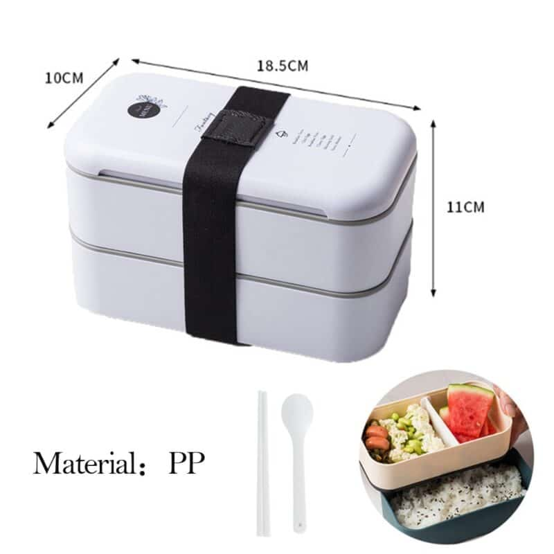 304 Stainless Steel Lunch Box Bento Box For School Kids Office Worker 2layers Microwae Heating Lunch Container Food Storage Box 15