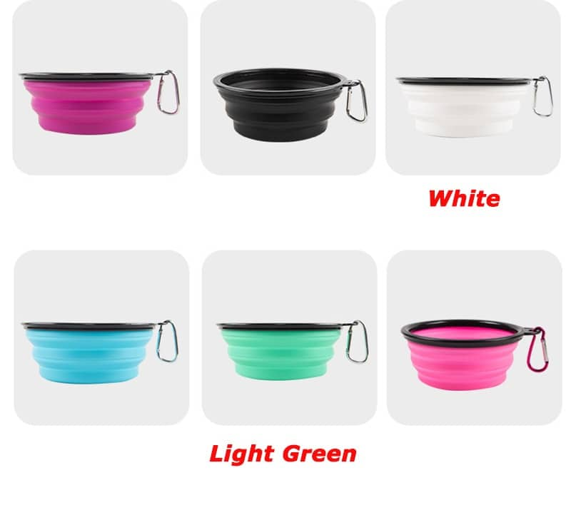 1000ml Large Collapsible Dog Pet Folding Silicone Bowl Outdoor Travel Portable Puppy Food Container Feeder Dish Bowl 8