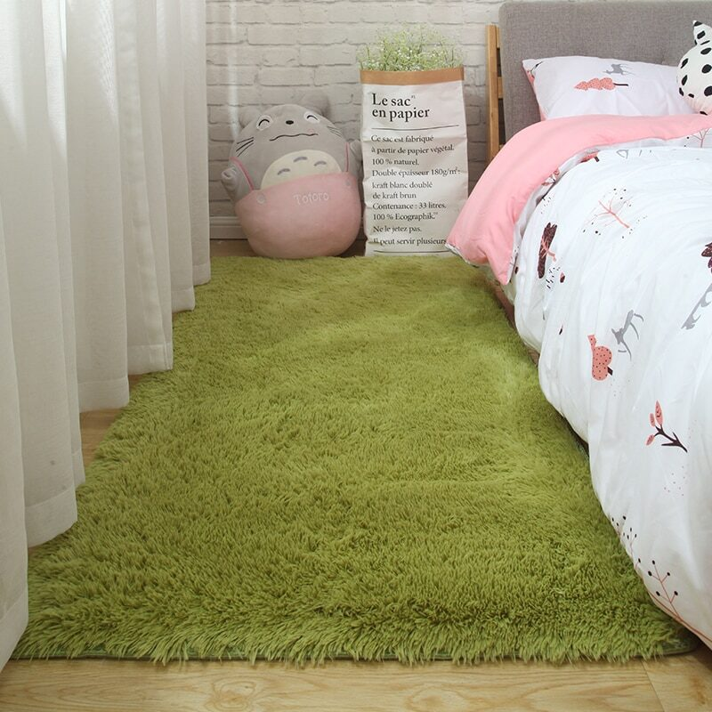 Fluffy Tie Dye Carpets For Bedroom Decor Modern Home Floor Mat Large Washable Nordica in the Living Room Soft White Shaggy Rug 25