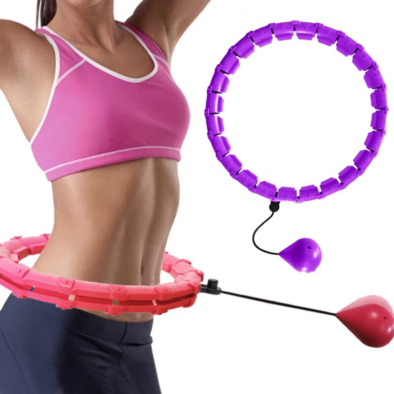24 Section Adjustable Sport Hoops Abdominal Thin Waist Exercise Detachable Hoola Massage Fitness Hoop Training Weight Loss 1