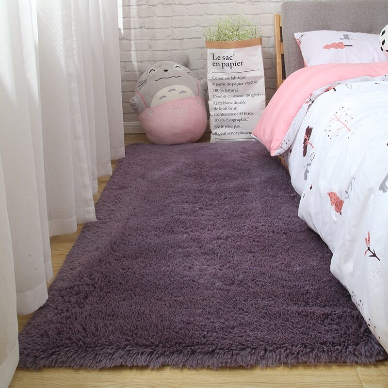 Fluffy Tie Dye Carpets For Bedroom Decor Modern Home Floor Mat Large Washable Nordica in the Living Room Soft White Shaggy Rug 14