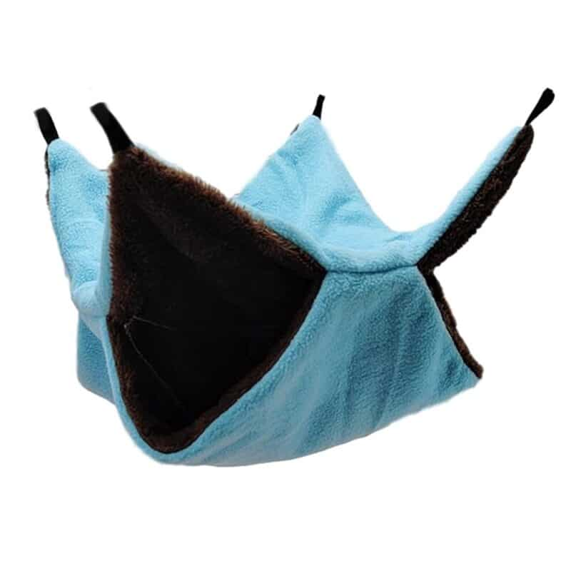 Warm Hamster Hammock Rat Hanging Beds House Small Animal Cage Squirrel Guinea Pig Double-layer Plush Cotton Nests Pets Supplies 13