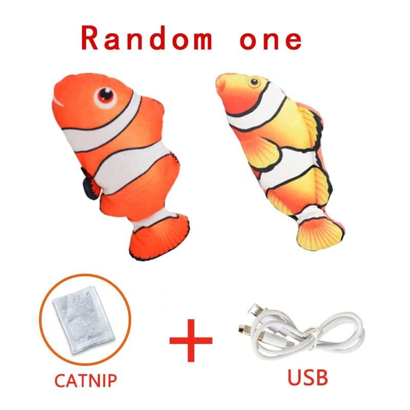 Pet Soft Electronic Fish Shape Cat Toy Electric USB Charging Simulation Fish Toys Funny Cat Chewing Playing Supplies Dropshiping 7