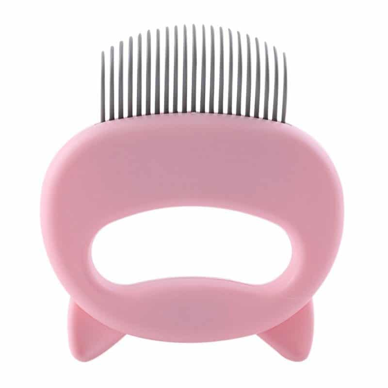 Pet Massage Brush Shell Shaped Handle Pet Grooming Massage Tool To Remove Loose Hairs Only For Cats New 8